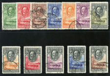 Bechuanaland 1932 KGV set complete very fine used. SG 99-110. Sc 105-116.