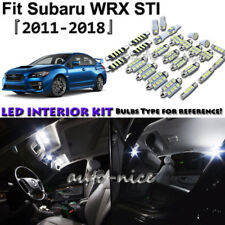 8x White LED Interior Lights Package Kit For 2011-2016 2017 2018 Subaru WRX STI