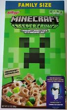 NEW KELLOGG'S FAMILY SIZE MINECRAFT CREEPER CRUNCH CEREAL 12.7 OZ FREE SHIPPING