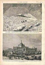 Observatoire Maison de Nansouty Pic du Midi de Bigorre Pyrénées GRAVURE 1875