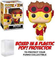 Funko POP! DC Heroes ~ KID FLASH (#320) EXCLUSIVE FIGURE w/POP PROTECTOR