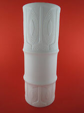 CUNO FISCHER für HUTSCHENREUTHER Bisquitporzellan VASE Op Art 60er 70er Design
