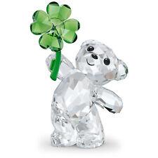 Swarovski Crystal Kris Bear: Lucky Charm Figurine Decoration, Green, 5557537
