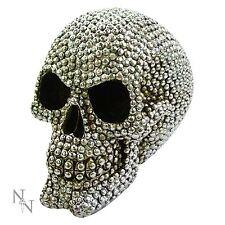 Priceless Grin Skull 12.5cm High Gothic Halloween Silver Stud Nemesis Now
