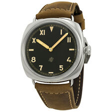 Panerai Radiomir California 3 Days Black Dial Light Brown Leather Mens Watch