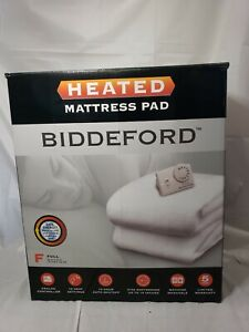 Biddeford Full Size Electric Heated Mattress Pad Warming Quilted Warm Cover Bed