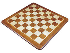 "Large Size 25"" Flat Wooden Chess Board Inlaid Golden Rosewood/Maple. Sq. Sz 2.5"""