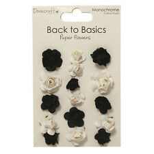 Dovecraft Back to Basics Monochrome Paper Flowers