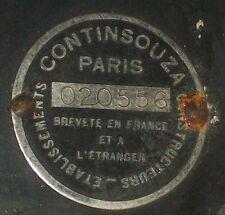 OLD CONTINSOUZA PARIS FRANCE BABY CINE MOVIE CLOCKWORK CAMERA w KRAUSS F2cm LENS
