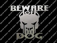 Beware of Dog Pitbull Metal No Trespassing Sign Wall Art Keep Out Unique