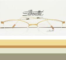 SILHOUETTE Eyeglasses Gold Half Rimless Frame Illusion 4454 53mm
