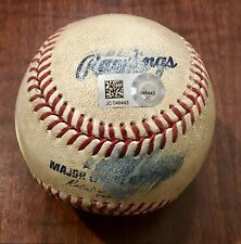 2017 Dodgers 100th Win Game Used Baseball - First Time In 43 Years #2