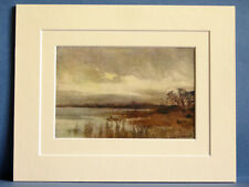 HICKLING BROAD NORFOLK NORWICH VINTAGE DOUBLE MOUNTED HASLEHUST PRINT 10 X 8