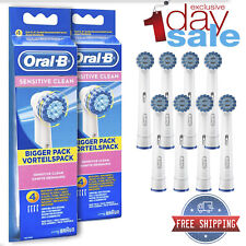 8ct Braun Oral B Sensitive Clean Toothbrush Replacement Brush Heads Refill 2pack
