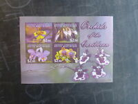 2004 GRENADA CARRIACOU ORCHIDS 4 STAMP MINI SHEET MNH
