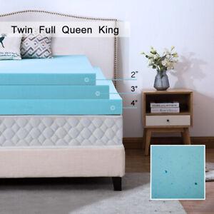 Mattress Topper 2 3 4 Inch Gel Memory Foam Cooling Blue Swirl Lavender New Size