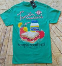 "NWT Simply Southern ""Tomato Sandwich"" Women's Sz. Medium T-Shirt- READ AD"