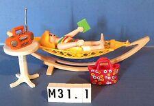 (M31.1) playmobil Maman dans son hamac ref 4861 4858 4859 4857