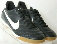Nike Tiempo Black Black Quilted Athletic Sneaker 454337-013 shoes Women's US 8.5