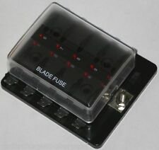 10-Fach, Sicherungsdose mit Ausfallled,  LED, Sicherungshalter