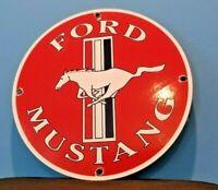 VINTAGE FORD AUTOMOBILE PORCELAIN GAS SERVICE DEALERSHIP MUSTANG PUMP SIGN