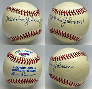 Judy Johnson FULL NAME Signed William Julius Johnson Baseball HOF PSA/DNA AUTO
