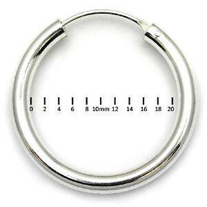 MENS 925 STERLING SILVER HINGED EAR HOOP/SLEEPER 20mm x 3mm - 1 SINGLE EARRING