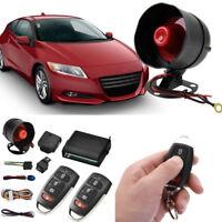 Car 1 Way Anti-Thelf Alarm System Central Door Locking 2 Remote Control Keyless