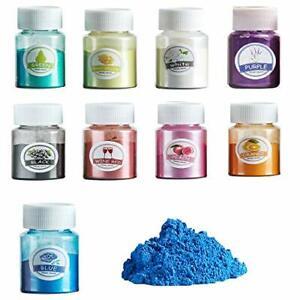 Epoxidharz Farbe, 9 stk. Mica Pulver Seifenfarbe Set Metallic Farbe Pigmente