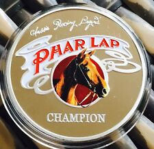 Phar Lap Horse Finished In Silver .999 1oz Collectors Coin Aussie Racing Legend