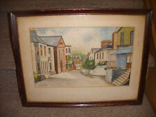 Vintage watercolor Architecture & Cityscape  houses signed by artist Sydney Pope
