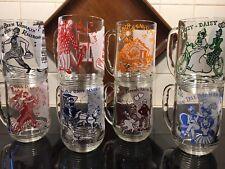 Vtg Swanky Swig Set Of Glasses Mugs Nursery Rhyme Lyrics Complete Set of 8
