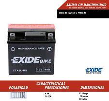 BATERIA DE MOTO EXIDE YTX5L-BS (Ref Exide ETX5L-BS)