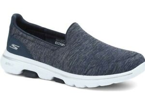 Skechers Go Walk 5 Womens Ladies Navy Slip On Shoes Trainers Size 4-8