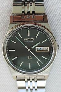 SEIKO SQ 7123-8439 Black Dial Men's Watch July 1982