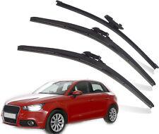 Audi A1 Sportback 2011-On Full Set de 3 Pare-brise Balais d'essuie-glace avant et arrière