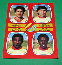 N°431 BENARBIA TODOROVIC OUATTARA MARTIGUES D2 PANINI FOOTBALL 87 1986-1987