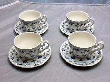 Set of 4 Myott Finlandia Staffordshire Tea or Coffee Cups & Saucers 1982