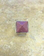 RLM STUDIO STERLING SILVER AND RHODONITE SUGARLOAF RING SIZE 6 QVC