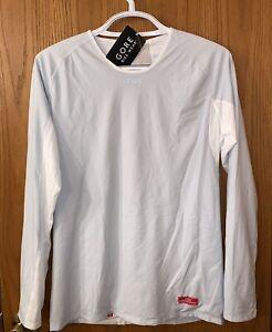 GORE BIKE WEAR WINDSTOPPER Base Layer Shirt Long Gray/White, Men's Size XL NWT