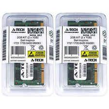 2GB KIT 2 x 1GB Dell Inspiron 1721 1735 6400 MM061 640m MXC061 Ram Memory