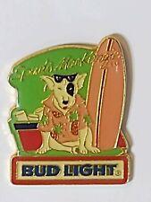 Vintage Budweiser Bud Beer Spuds Mackenzi Bud Light w/Surf Board Lapel Pin