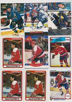 (14) card Dale Hunter mixed lot, Washington Capitals legend