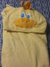Yellow Hooded Duck Towel Toddler Bathing