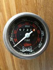 Fiat tractor gauge Veglia Borletti 0-3000 rpm,reads 737 hours.....rare find