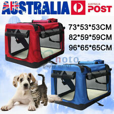 Pet Soft Crate Portable Dog Cat Carrier Travel Cage Kennel Folding S/M/L/XL/XXL