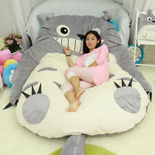 60*80'' Queen Totoro Carton Bed Huge Sofa Carpet Tatami Mattress Filled Relax