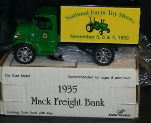 1993 National Farm Toy Show 1935 Mack Freight Truck Bank in Box
