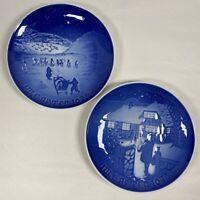 B&G BING & GRONDAHL 1972 & 1973 Christmas Plates