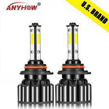 4-Side 9006 HB4 9012 LED Headlight Foglight Kit CAR 80W 28000LM 6000K Bulbs HIR2